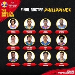 Filipinai paskelbė galutinę sudėtį Pasaulio taurės kovoms