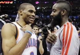 """S.Pippenas: R.Westbrookas labai pravers """"Rockets"""" ekipai"""