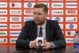"""G.Petrauskas: """"Labai prastas trečiasis kėlinys lėmė """"Lietkabelio"""" pergalę"""""""