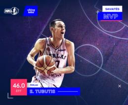 NKL savaitės MVP – lygos sezono rekordą pasiekęs Einaras Tubutis
