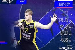 """NKL savaitės MVP O.Pleikys: """"Tauragės komanda buvo vienintelė, kuri man suteikė šansą"""""""
