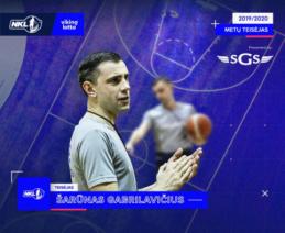 Geriausiu NKL sezono teisėju išrinktas Š. Gabrilavičius