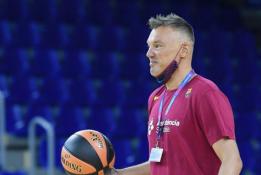 """Š. Jasikevičius pravedė pirmą """"Barcelona"""" treniruotę"""
