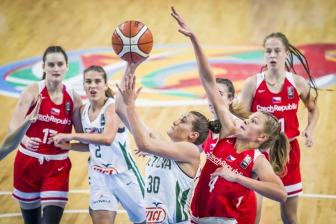 A.Zdanavičiutės ir J.Jocytės vedamos šešiolikmetės – Europos čempionato pusfinalyje