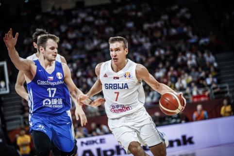 Čekų pasipriešinimą atlaikiusi Serbija finišavo penktoje pozicijoje