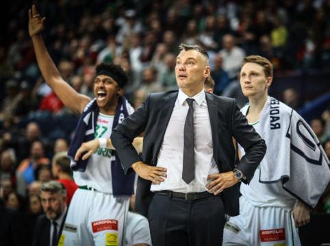 """Š. Jasikevičius nėra tikras dėl M. Grigonio galimybių žaisti prieš """"Barceloną"""""""