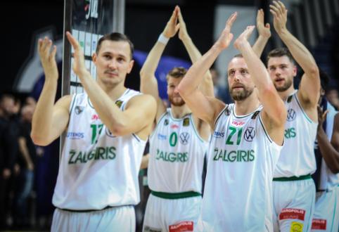 """Gynyboje varžovus surakinęs """"Žalgiris"""" įsirašė antrąją pergalę Eurolygos turnyre"""