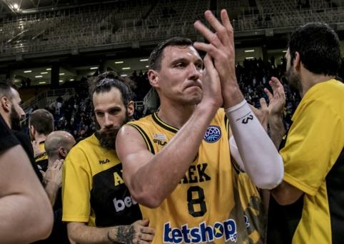 Puikiai dėl kamuolių kovojęs Mačiulis prisidėjo prie AEK pergalės Graikijos lygoje