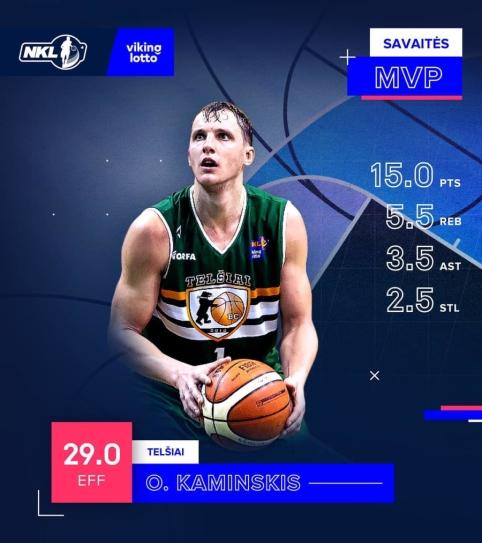 NKL savaitės MVP tapo idealiai pataikęs Ovidijus Kaminskis