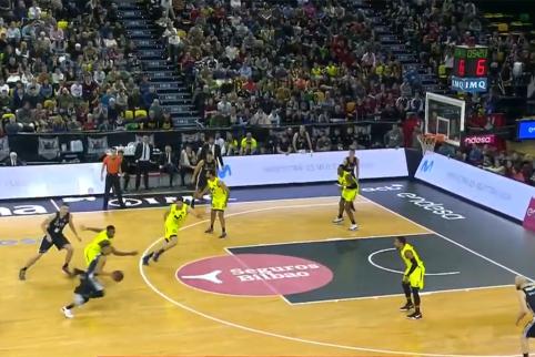 Ispanijos čempionate - triuškinantis 183 cm ūgio žaidėjo dėjimas per K.Kadji