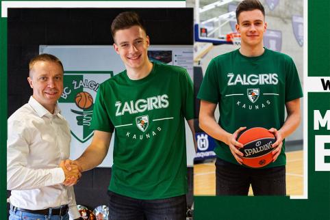 """""""Žalgirio"""" aprangą apsivilkęs M. Blaževičius žada fanams: """"Aš jus nustebinsiu"""""""