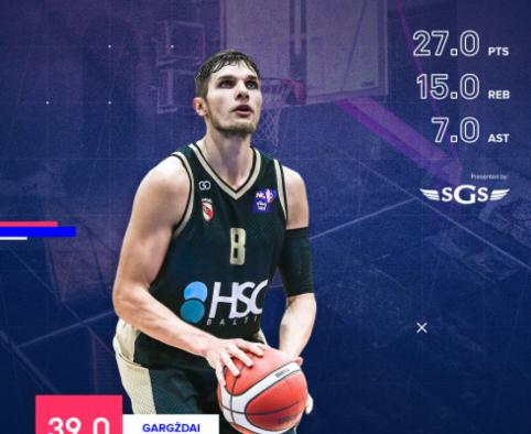 NKL pirmosios savaitės MVP – Modestas Kumpys