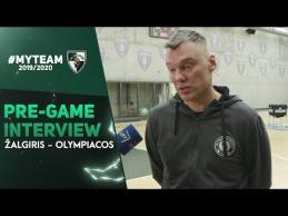 Š.Jasikevičius - apie mačą prieš Pirėjo klubą
